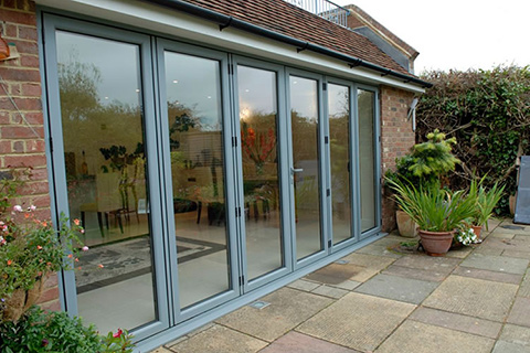 Coloured Bi-Fold Doors Cambridge