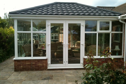 Double Hipped Conservatory Cambridge | Safeseal Frames